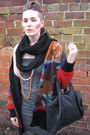 Thrift-store-dress-alexander-wang-bag-new-look-socks-pixie-jeffrey-campbel