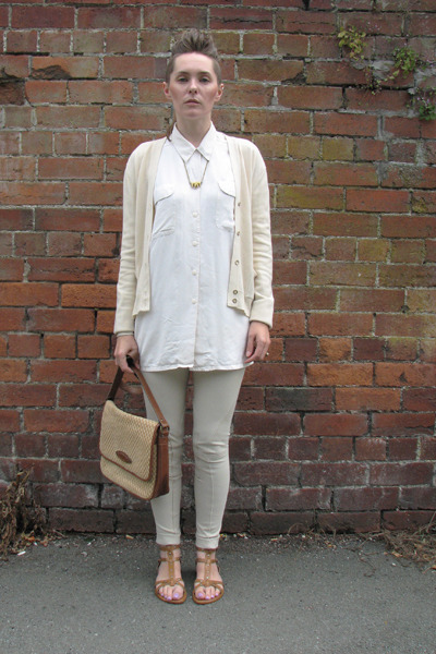 thrifted Jane Shilton bag - jodpurs thrifted leggings