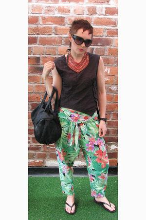 black Topshop sunglasses - pink Giles Deacon for New Look accessories - black Al