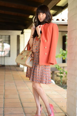 everly dress - H&amp;M coat - dooney bourke purse - Aldo heels