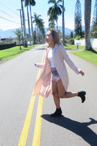 black black To Be Announced boots - light pink trench bcbg max azria coat