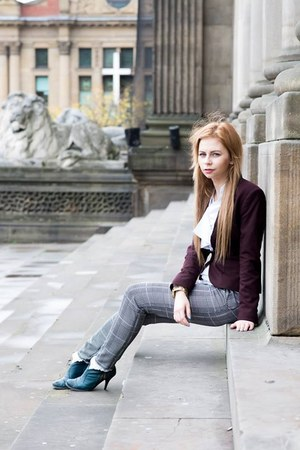 Lasocki shoes - H&M blazer - Topshop socks - ted baker blouse