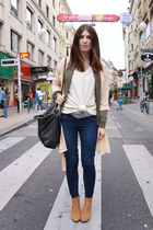 beige chiffon Chicwish cardigan