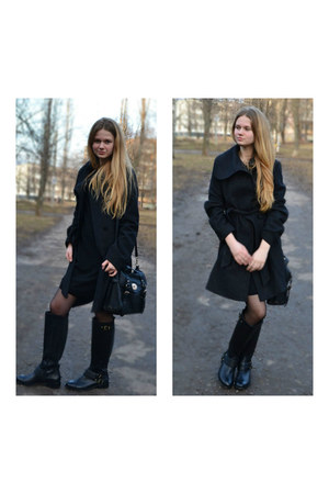 black Jessica Simpson boots - black BeFree dress