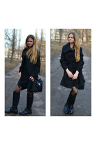 black Jessica Simpson boots - black BeFree dress