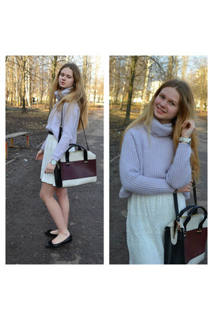 sweater - shoes - dress - bag - watch