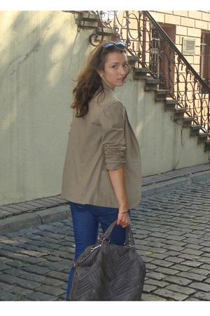 vintage blazer - Zara jeans - H&M top - Zara purse