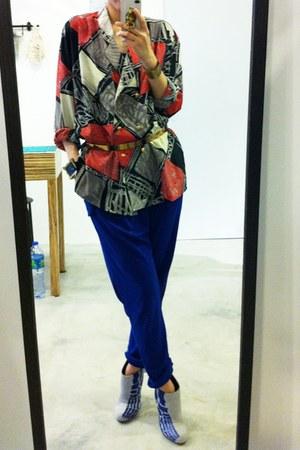 vintage blazer - DF pants - Kamae leon heels