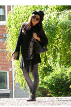 vintage glasses - H&M shoes - vintage hat - Chanel bag