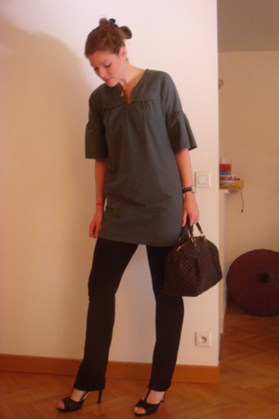 Cotlac top - American Apparel pants - Repetto shoes - LV purse