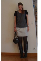 Zara top - Comptoir des Cotonniers skirt - longchamp purse