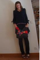 Kenzo coat - American Apparel pants - Shanghai Tang purse