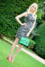 Black-zara-dress-aquamarine-promod-bag