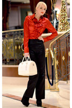 red Sweet Miss shirt - white Furla bag