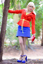 blue Zara skirt - carrot orange Forever 21 coat