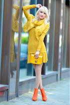 yellow Forever 21 bag - carrot orange H&M shoes