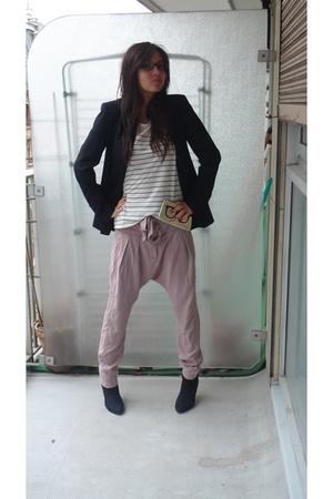Zara jacket - Topshop shirt - Topshop pants - etam boots - Topshop purse - Vogue