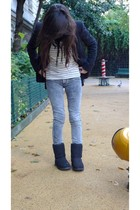 Zara jacket - Topshop shirt - Zara jeans - Ugg boots