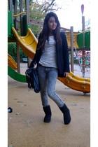 Topshop shirt - Zara jeans - Zara jacket - Zadig&Voltaire accessories
