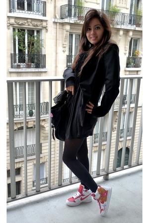Zara jacket - Topshop dress - US accessories - nike shoes