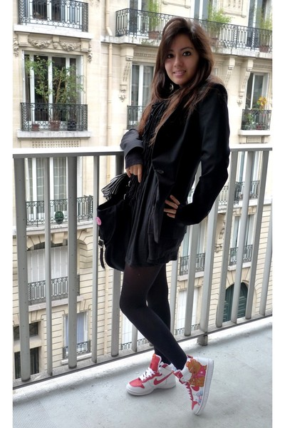 Zara jacket - Topshop dress - US accessories - nike shoes