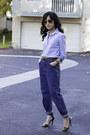 Boyfriend-jeans-vintage-thrifted-jeans-two-tone-shirt-jcrew-shirt