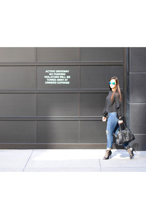 H&M blouse - TJ Maxx bag - JustFab heels