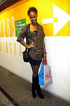 black barby boot Bakers boots - black tube dress American Apparel dress