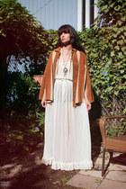 vintage dress - leather caplet vintage cape