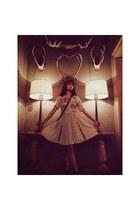 eggshell vintage dress