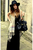 forever 21 cardigan - hm dress - topshop hat - mulberry bag