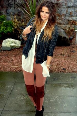 allsaints jacket - hm leggings