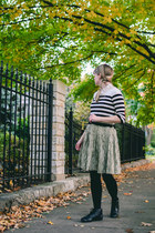 vintage boots - vintage dress - thrifted sweater - Urban Outfitters tights