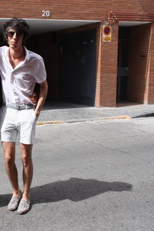 Armand Basi shirt - Purificacion Garcia belt - H&M shorts - Zara boots