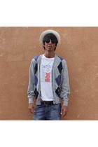 ohlala hat - Burberry jacket - Camden t-shirt - balenciaga belt - Zara shorts -