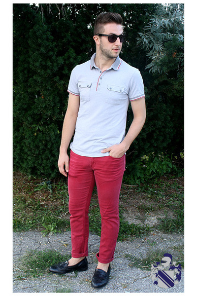 7a17588dda9 ruby red chinos pants - silver red tipped polo le chateau shirt