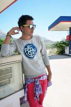 silver Reign Italia sweater - amethyst Hackett shirt