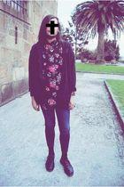black H&M shirt - black Dr Martens shoes