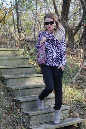 seychelles boots - Charming Charlie purse - Chanel sunglasses - Kristin Hassan b