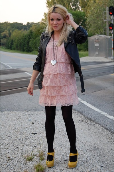 Pink dress black jacket - Best Dressed