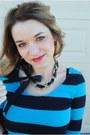 Black-kristin-hassan-skirt-sky-blue-forever21-shirt-olive-green-versace-purs