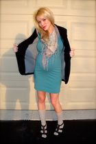 green H&M dress - black Guess jacket - beige Target socks - purple Michael Kors
