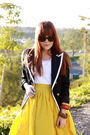 Blue-forever21-blazer-white-jcrew-shirt-gold-target-skirt-anthropologie-so