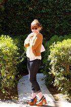 Forever 21 jeans - vintage blouse - Topshop cardigan - Marc Jacobs purse - vinta