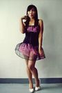 Pink-skirt-black