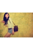 Topshop blouse - Zara shorts - Gaudi belt - Secondhand purse - Secondhand neckla