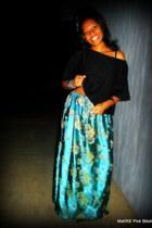 DIY skirt - knit blend Black DIY crop top shirt