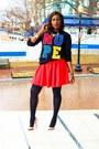 Forever-21-sweater-h-m-skirt-christian-louboutin-heels