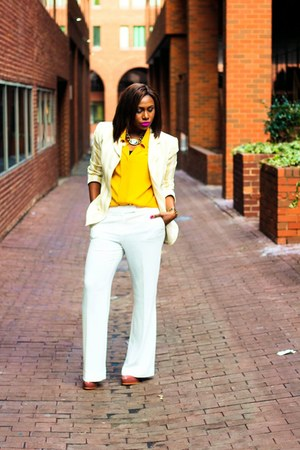 Jones New York blazer - Anne Klein pants - vintage blouse - Kelsi Dagger heels
