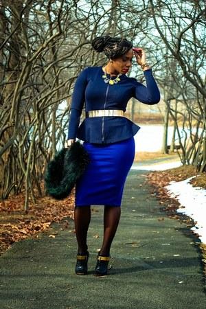 Forever 21 skirt - asos belt - Topshop top - Giuseppe Zanotti heels